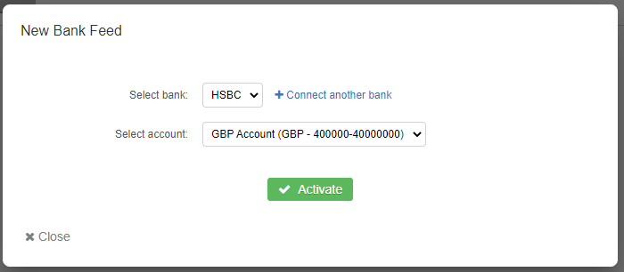 Connecting a HSBC account